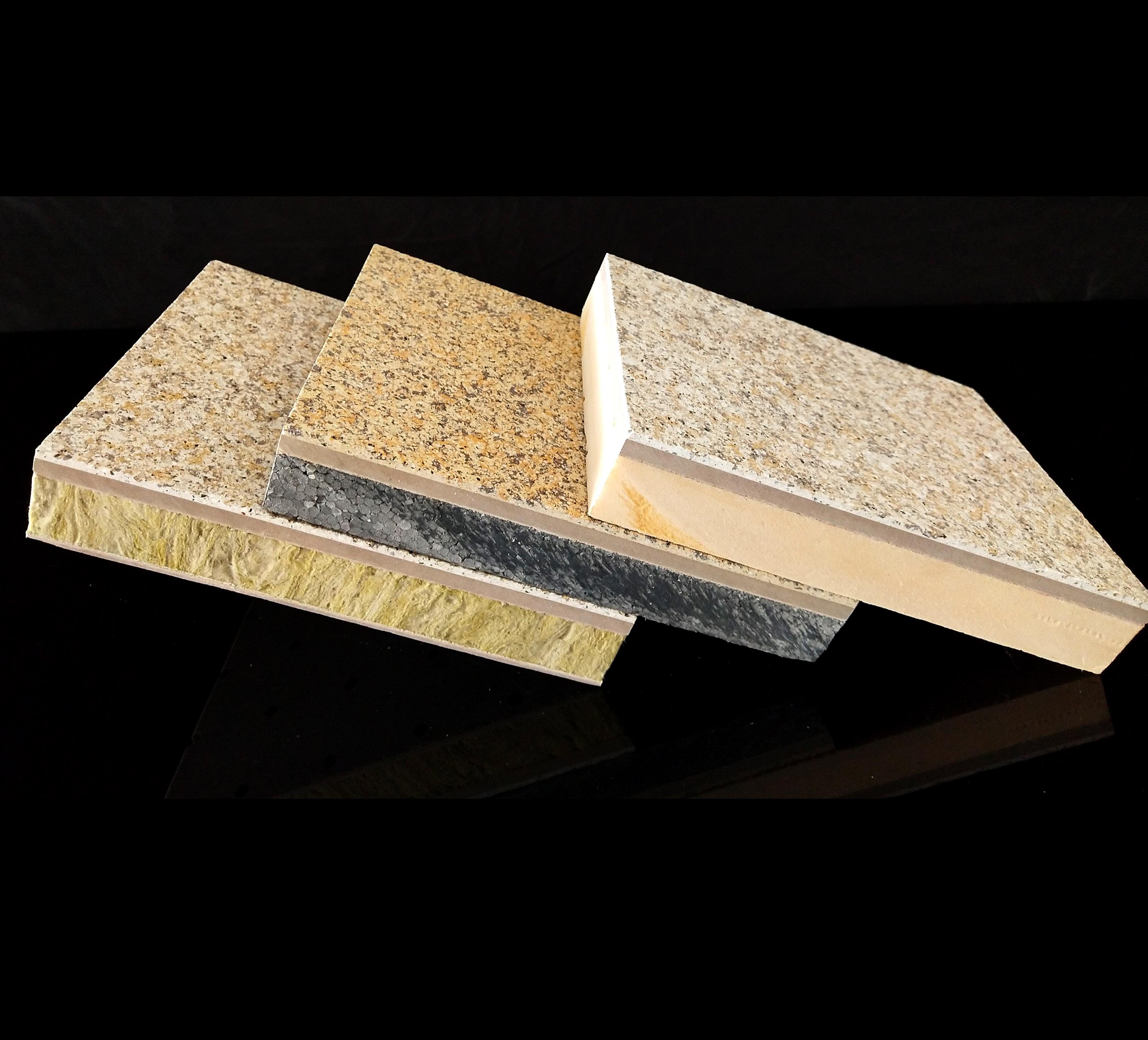 真岩石保温装饰一体板